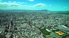 4K Aerial view of tourist attraction Taipei monument Yat Sen Memorial Hall -Dan Stock Footage