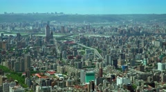 4K Aerial view of the Downtown Taipei city buildings. West Area cityscape -Dan Stock Footage