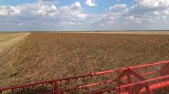 Combine machine POV ,Soybean Harvest  Stock Footage