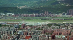4K Hd Ultra, Aerial view of the Aeroport Taipei city. North Area of Capital -Dan Stock Footage