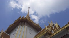Top of Wat Traimit - temple of Gold Buddha Stock Footage