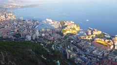 Aerial Panoramic View of the Principality of Monaco Stock Footage