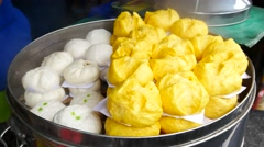 4K  steamed dumpling in chinese restaurant Stock Footage