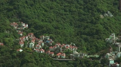 Aerial view of rural house in the green mountain of the Capital Taipei city-Dan Stock Footage