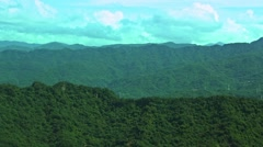 Aerial view of the green mountain from Capital Taipei city-Dan Stock Footage