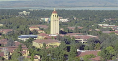 Aerial view of Stanford University, Plao Alto, Silicon Valley Stock Footage