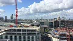 Beautiful panoramic view of London western side from Monument Column Stock Footage