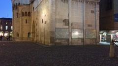 Modena, Italy. Facade of Duomo and Campanile Stock Footage