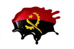 Blot with national flag of angola Stock Illustration