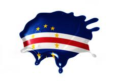 Blot with national flag of cape verde Stock Illustration