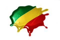 Blot with national flag of republic congo Stock Illustration