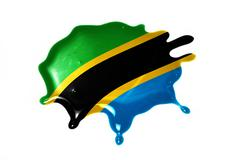 Blot with national flag of tanzania Stock Illustration