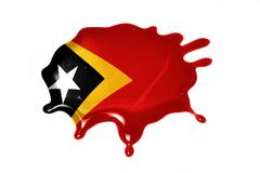 Blot with national flag of east timor Stock Illustration