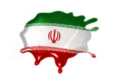 Blot with national flag of iran Stock Illustration