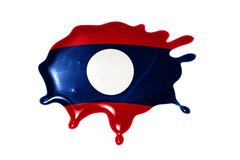 Blot with national flag of laos Stock Illustration