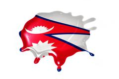 Blot with national flag of nepal Stock Illustration
