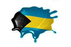 Blot with national flag of bahamas Stock Illustration