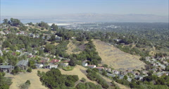 Aerial view over Silicon Valley palo Alto and suburban houses Stock Footage