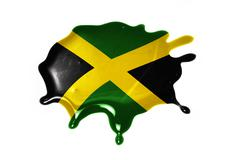 Blot with national flag of jamaica Stock Illustration