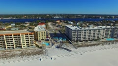 Aerial view of Fort Walton Beach, Florida Stock Footage