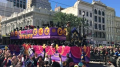 NEW ORLEANS – Parades through the streets of New Orleans, Stock Footage