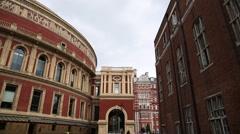 The Royal Albert Hall - pan Stock Footage
