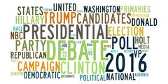 USA presidential election debates in word tag cloud Stock Illustration