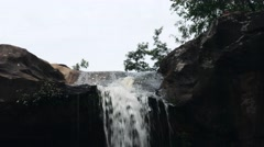 Waterfall in deep forest Stock Footage