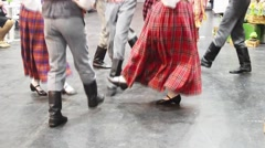 The Latvian national dances  0.mp4 Stock Footage