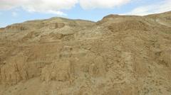 Judean Wilderness near Qumran  (Israel aerial footage) Stock Footage