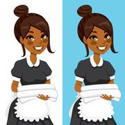 African American Housekeeping Woman Stock Illustration