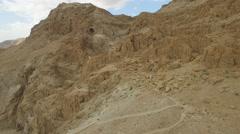 Judean Desert near Qumran  (Israel aerial footage) Stock Footage