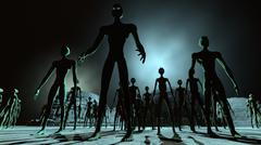 Alien Leader and Army Stock Illustration