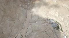 Dried waterfall in Judean Wilderness (Israel aerial footage) Stock Footage
