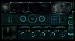 Sci Fi HUD futuristic control interface. UHD 4K Quality.mp4 Stock Footage