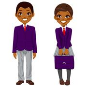 African American Students Uniform Stock Illustration