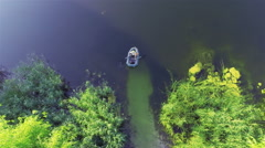 Inflatable boat Stock Footage