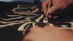 Calligraphy. Calligraphic font. Pen in hand calligraphy Stock Footage