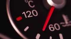 Car coolant gauge Stock Footage