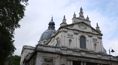 The London Oratory Building Stock Footage