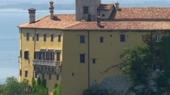 Duino castle facade detail Stock Footage