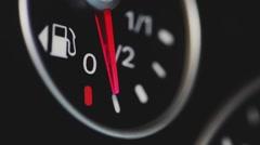Car fuel gauge Stock Footage