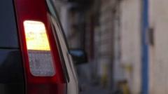 Car turn signal Stock Footage