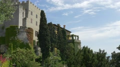 Duino castle and park Stock Footage