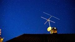 Star timelapse an october night in Örebro Sweden. Stock Footage
