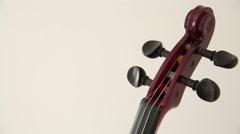 Electric violin head - pan Stock Footage