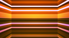 Broadcast Twinkling Horizontal Hi-Tech Bars Shaft, Orange, Abstract, Loop, 4K Stock Footage