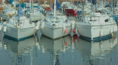 Timelapse of North Berwick Harbour, Scotland Stock Footage