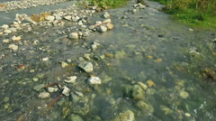 Mountain river with waterfall Stock Footage