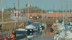 North Berwick Harbour, Scotland Stock Footage
